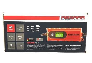 Absaar ab-4 6 V/12 V 4 A Inteligente Cargador de batería de ...