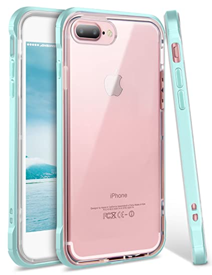 new product 9b204 724e6 iPhone 8 Plus Case, iPhone 7 Plus Case, Ansiwee Shockproof Armor iPhone 7  Plus Protective Defender Impact Resistant Slim Fit Rubber Bumper Case Cover  ...