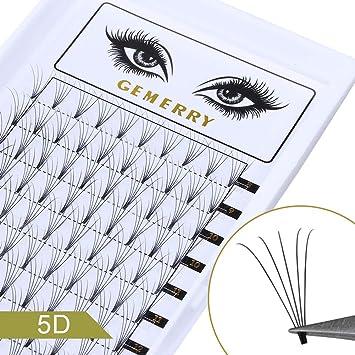 e593303a039 Amazon.com : 0.07mm Volume Lash Extensions, C Curl 8-14mm Mix 5D Eyelash  Extensions Fans Silk Natural Premade Professional Individual Cluster Eyelash  ...