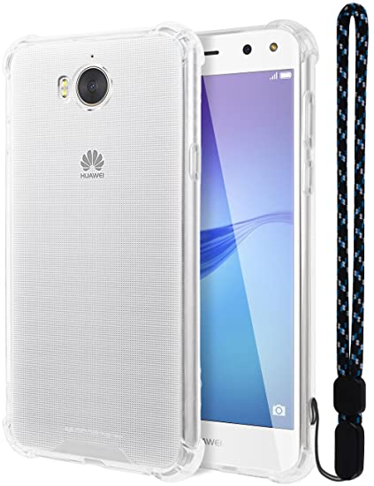 Huawei Y5 2017 Case, Mercury [Air Cushion] Crystal Clear Hybrid [Protective  TPU Cover & Hard PC Back] for Huawei Y5 2017, HWY52017-CCH