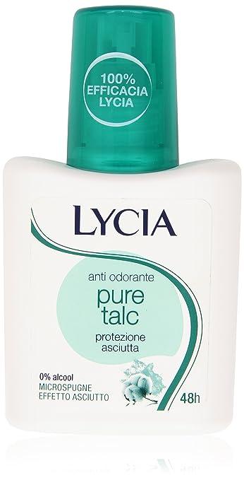 4 opinioni per Lycia Anti Odorante Pure Talc, Protezione Asciutta- 75 ml