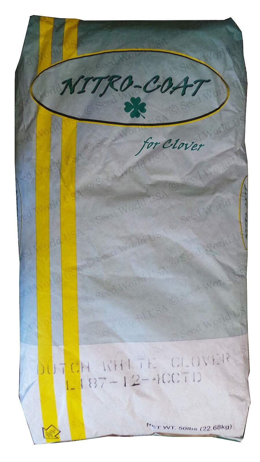 SeedRanch Nitro-Coated and Inoculated Seedranch White Dutch Clover Seeds - 50 Pounds