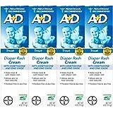 A+D Zinc Oxide Diaper Rash Treatment Cream, Dimenthicone 1%, Zinc Oxide 10%, Easy Spreading Baby Skin Care, 4 Ounce Tube…