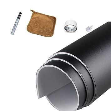 Adhesivo de vinilo para pizarra Magjump Adaptable Papel de contacto Material EVA extraíble Placa de borrado en seco de la pared (Negro 36