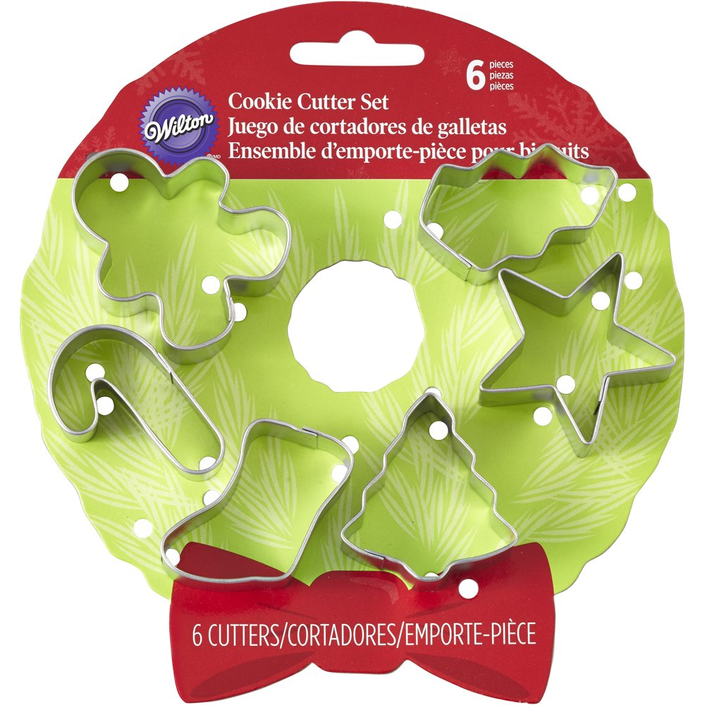 Amazon.com: Wilton 6-Piece Christmas Cookie Cutter Set: Kitchen ...