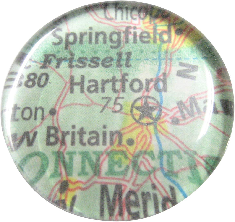 Kiola Designs Hartford Connecticut Map Pendant Magnet