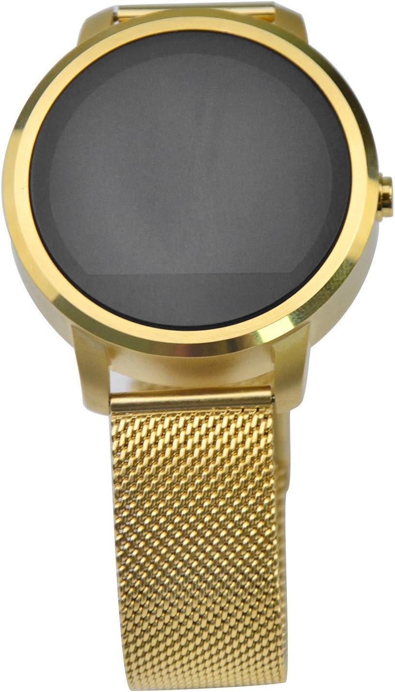 Reloj De Pulsera Digital Led TáctilReloj De Pulsera De Cuero AnchoReloj Inteligente - Reloj Inteligente Wifi, RV360 Android 4.4 IOS 7.0 Y Superior & Impermeabilice y a Prueba De Polvo - Oro