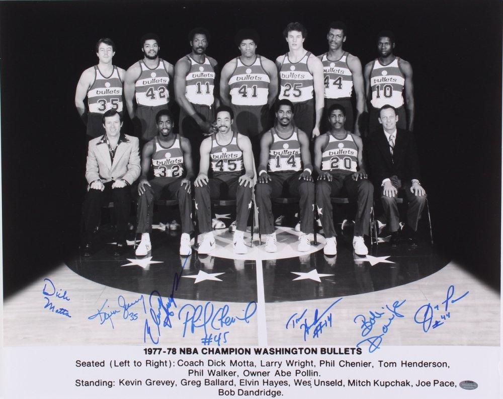 887b31aa9 Wes Unseld 1977-78 Washington Bullets (7) Signed 16x20 Photo . ...