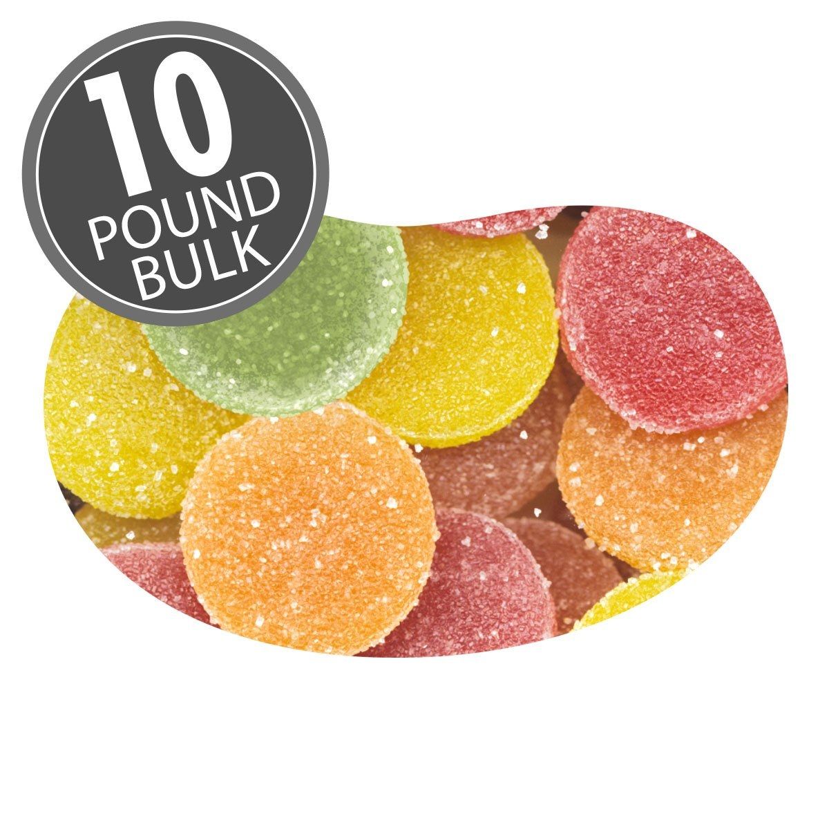 Sunkist Fruit Gems Candy - 10 lb Case (Unwrapped)