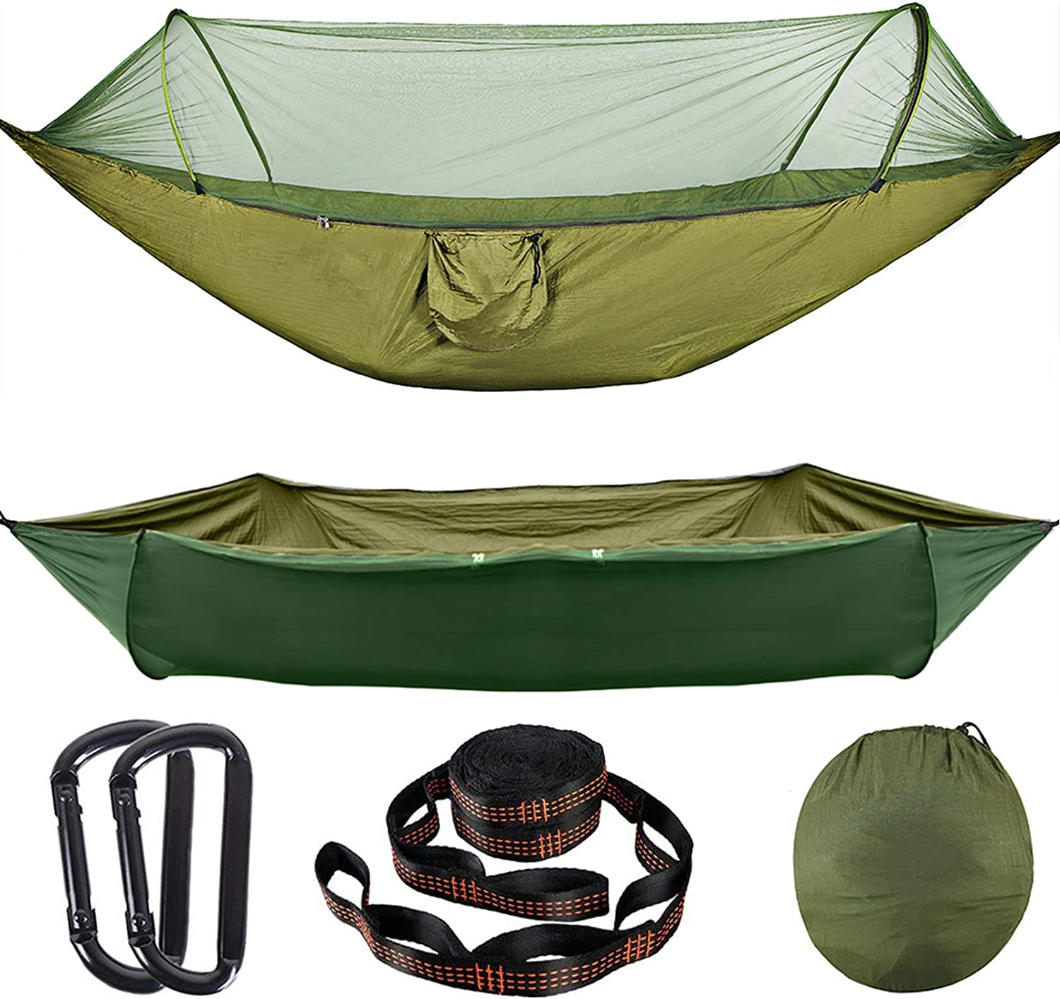 Details about  /Camping Hammock With Mosquito Net 1-2 Person Portable Big Hanging Sleeping Bed