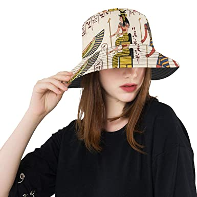 4a75750adf9 Lumos3DPrint Egyptian Decor Unisex Boonie Safari Fishing Bucket Hat ...