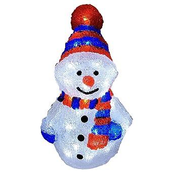 Weihnachtsbeleuchtung Xxl.Xxl Schneemann Acryl Beleuchtung Figur Kaltweiß 96 Leds Strombetrieb