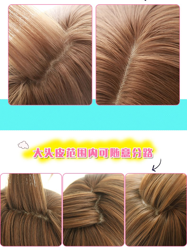 Generic Buy 1 3 send grandmother gray artificial hair Korean women girls lady short hair air Liu Hai short hair of artificial hair everyday s