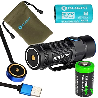 Olight S1R Turbo S rechargeable 900 Lumens CREE XP-L LED Flashlight EDC
