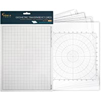 "Koala Tools | Geometric Grid Transparency Sheets (Variety Pack of 4) - 8.5"" x 11"" 