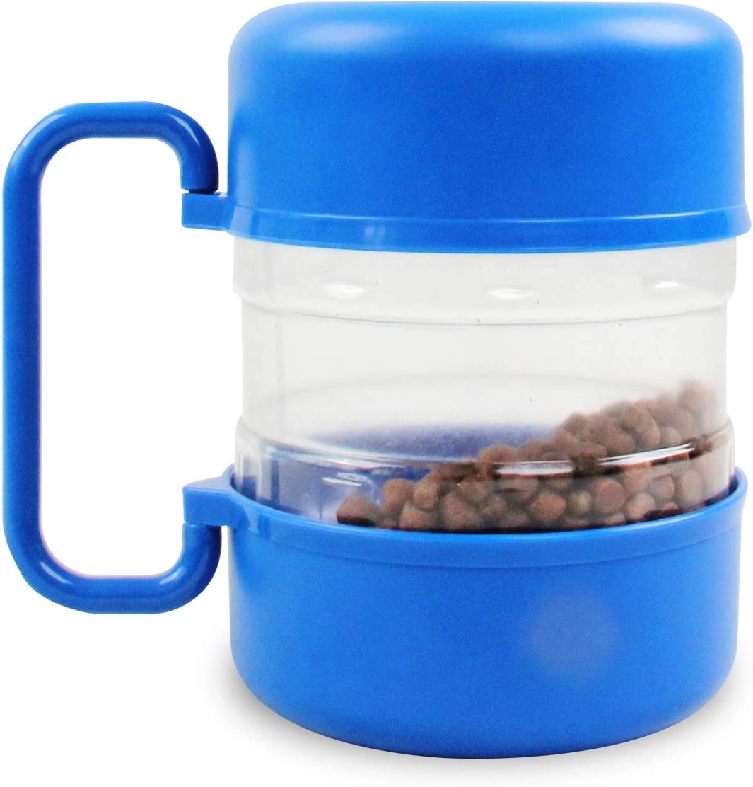 Pet Travel Dog Food Bin Container with Detachable Bowls Portable Pet Bowls for Outdoor Use