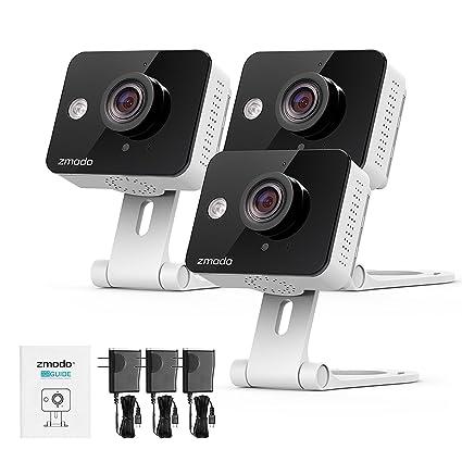 Zmodo Mini WiFi 720P HD Visión Nocturna Video Vigilancia de Vigilancia Casa, Cámara IP con