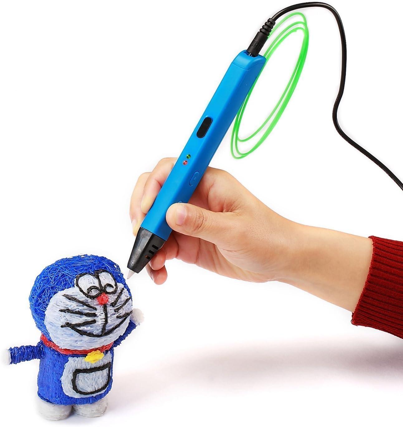 Gr/ö/ße: rot 3D Druckstift 3D Stift Safe und einfach zu bedienen 3D-Stifte f/ür Kinder Erwachsene 3D-Zeichenstift mit PLA-Filament-Nachf/üllungen 3D-Zeichnung Druckstift Perfekt f/ür Kinder Erwachsene