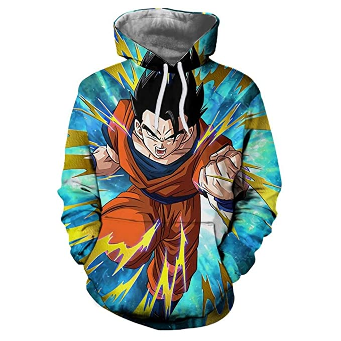 FLAMINGO_STORE Anime Hoodies Gohan Hooded Sweatshirts Goku 3D Hoodies Pullovers Men Hoodie at Amazon Mens Clothing store: