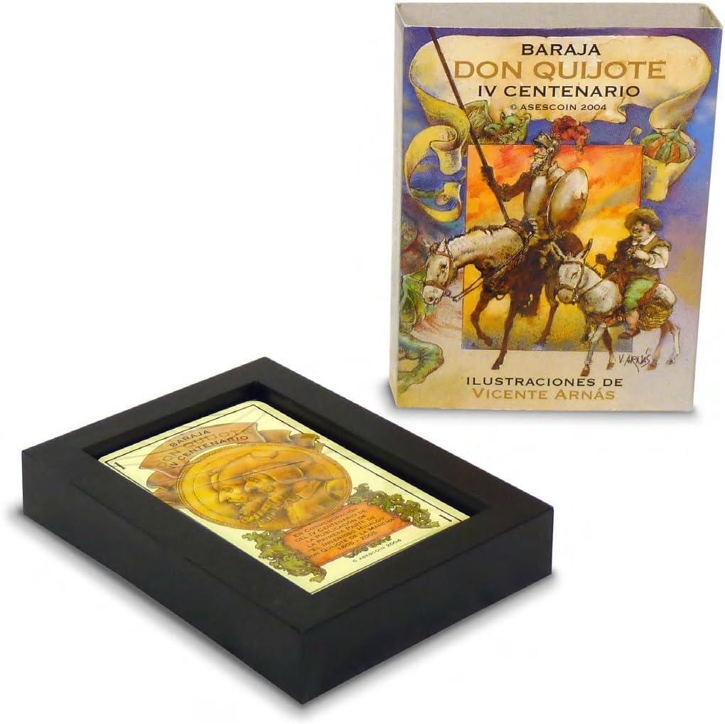 Maestros Naiperos- baraja Poker, Colección, diseño, quijote,Modelo, 50, Cartas, Estuche,, Calidad Casino Popular (130003024): Amazon.es: Juguetes y juegos