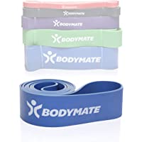 BODYMATE fitnessband 208 cm, elastische weerstandsband van natuurlatex, traint kracht, uithoudingsvermogen, coördinatie…