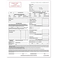 $44 » Used Vehicle Automotive Bill of Sale Purchase Agreement (3 Part)