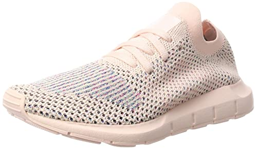 b9299f809f493 Image Unavailable. Image not available for. Color  adidas Originals Women s  Swift Run Primeknit Trainers Icey US8 Pink