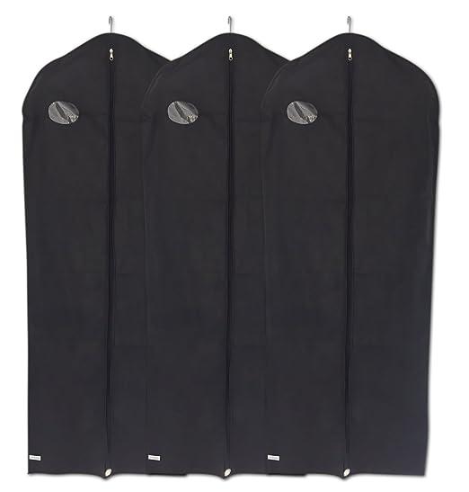 Juego de 3 fundas transpirables largas para trajes, camisas y vestidos de fiesta, de Dryzem