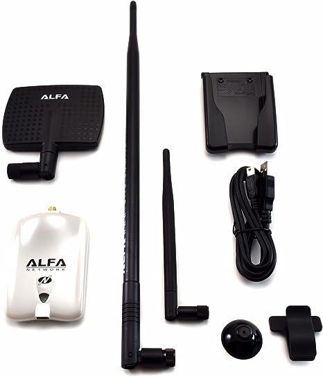 Alfa AWUS036NHR V2 Wireless N USB Adapter 7dBi Antenna + 9dBi Antenna + U-Mount