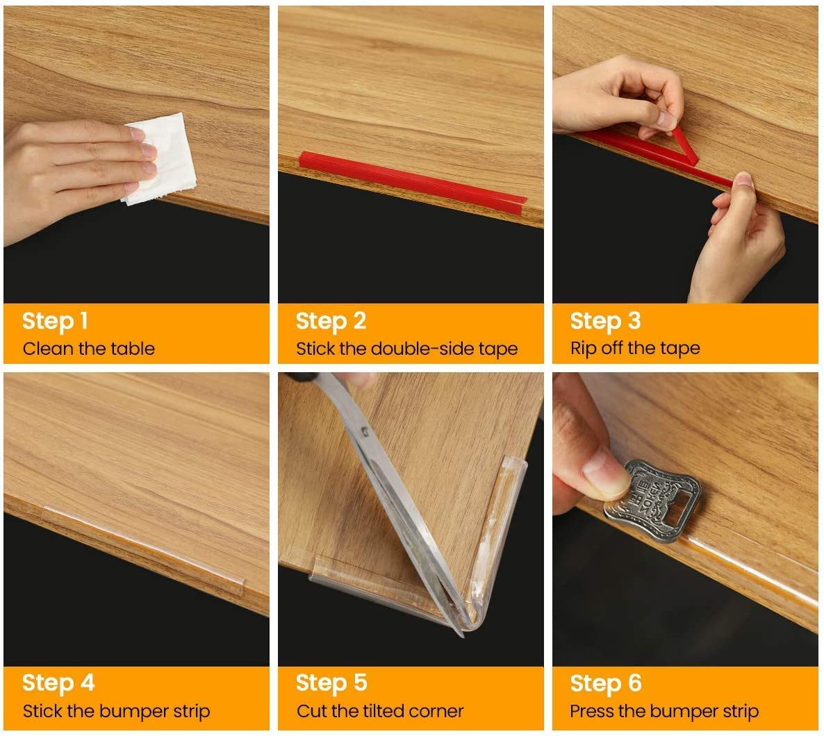 Wall Corners and Beds Protective Strip,Transparent Corner Guards Corner Protectors for Kids 20 Feet Soft PVC Furniture Table Edge Protectors with Double-Sided Tape for Furniture Edge,Chairs