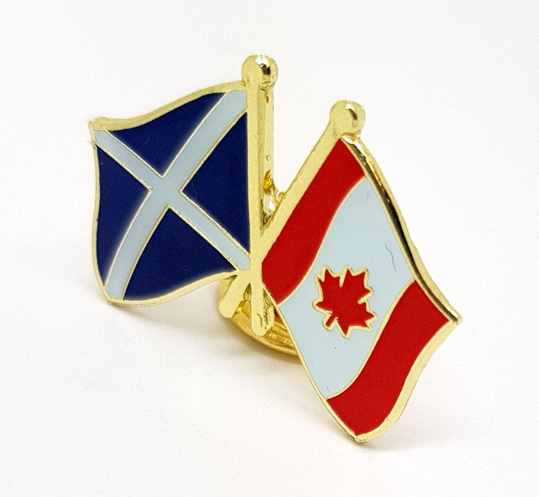 Canada, Schottland, Flagge Metall-Anstecker, Brosche, Anstecker ...