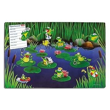 Frog Pond - Pizarra magnética de metal (60 x 40 cm), diseño ...