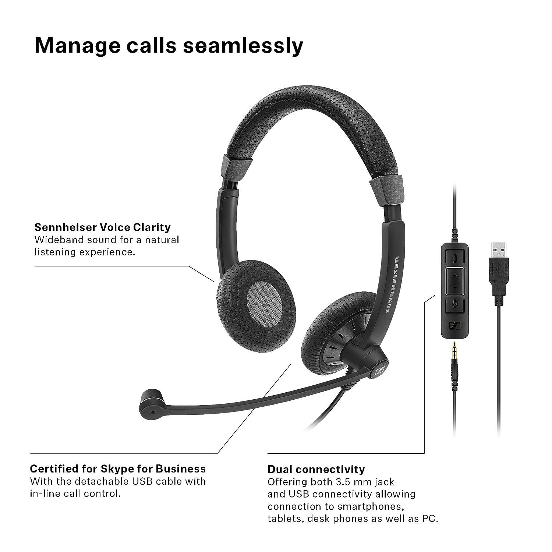 db26098d11a Amazon.com: Sennheiser SC 75 USB MS (507086) - Double-Sided Business ...