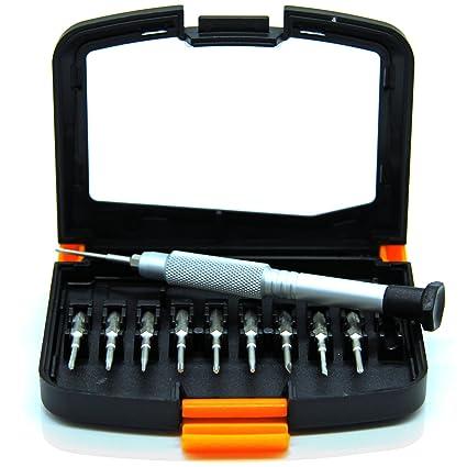 PRETEX set de destornilladores de precisión para tornillos pequeños con 10 puntas intercambiables, incluye un práctico estuche | con 2 años de ...