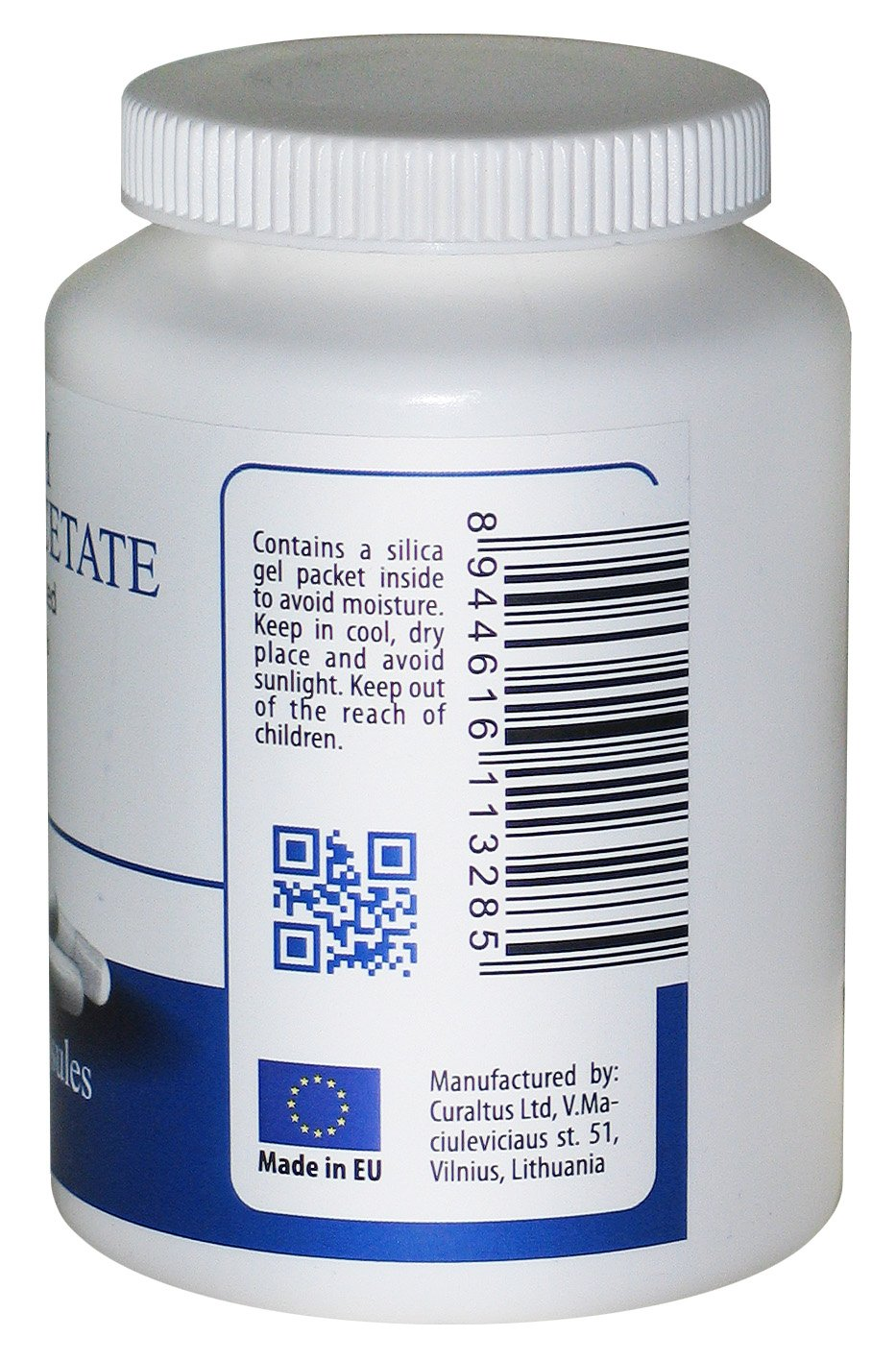 DCA - Sodium Dichloroacetate 500mg - Best Purity >99.9%, Made in Europe, By DCA-LAB, Certificate of Analysis included, Tested in a Certified Laboratory, Buy Directly from Manufacturer, 120 Capsules