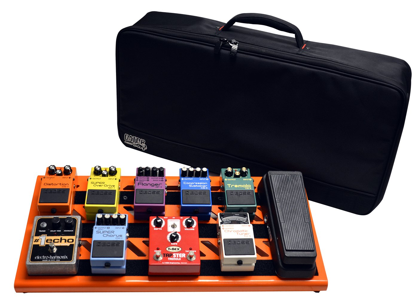 Gator GPB-XBAK-WH Cases Aluminum Pedal Board with Carry Bag, 32