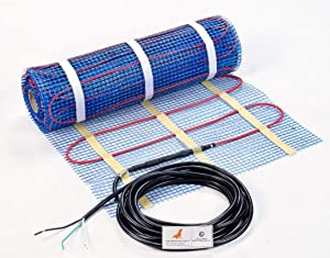 SEAL 70 sqft 120V Radiant Floor Heating Mat for Ceramic, Tile, Mortar, Easy to Install Self-adhesive Floor Heating System Kit