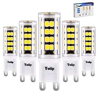Yuiip G9 Bombillas LED 3W 400LM Equivalente a 40W Bombilla Halógena, No Flicker, No