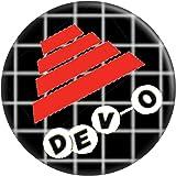 """Devo - Flower Pot Hat with Logo - 1.25"""" Round Button"""