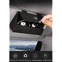 1Pcs Glasses Case Holder Clip for Car Sun Visor, Eye Sunglasses Storage Holder Box-Fit for All Car Models. (Gray)