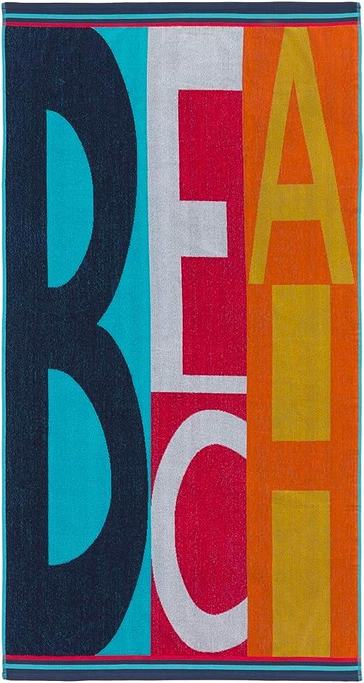 Montse Interiors, S.L. Toalla Playa o Piscina Letras en Colores ...