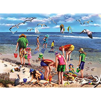 White Mountain Puzzles 965 Shell Seekers -550 Piece Jigsaw Puzzle: Toys & Games