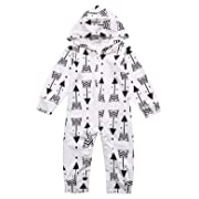 Baby Boys Girls Outfit Set Sweatsuit Arrow Hoodies Long Sleeve Jumpsuit (3-6 Months)