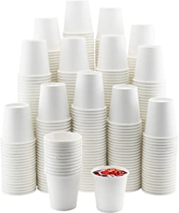 NYHI 500-Pack 6 oz. White Paper Disposable Cups – Hot / Cold Beverage Drinking Cup for Water, Juice, Coffee or Tea – Ideal for Water Coolers, Party, or Coffee On the Go'