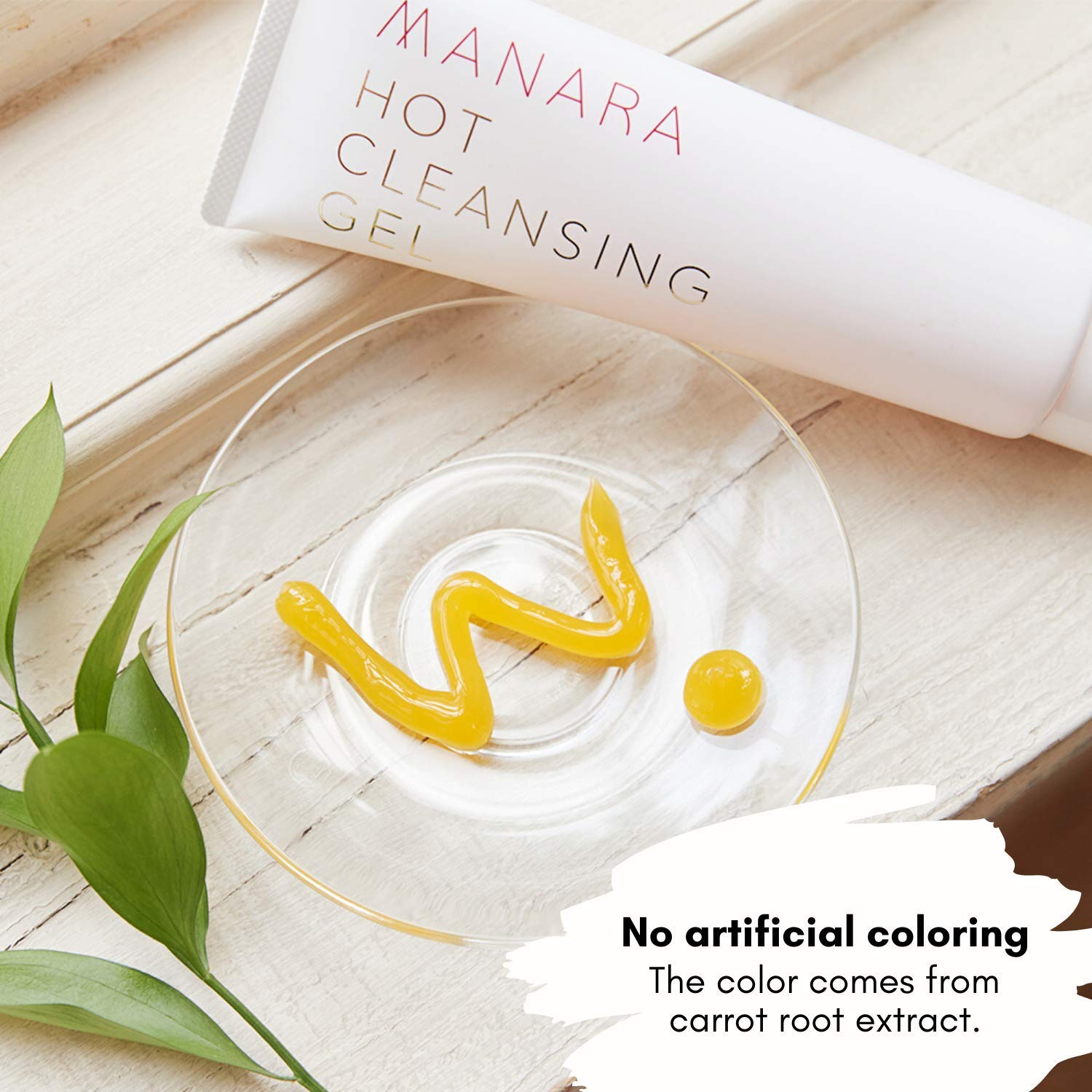 MANARA Hot Cleansing Gel, Facial Cleanser for Dry & Sensitive Skin, Hydrate & Clear Pores with Natural Ingredients, Paraben Free, Japanese cleanser 6.76 fl. oz.: Beauty