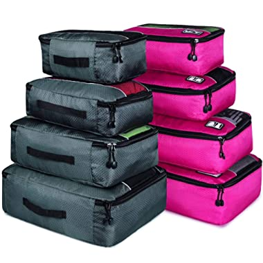 Packing Cubes Set Luggage Bags Organizers Durable Travel Accessories