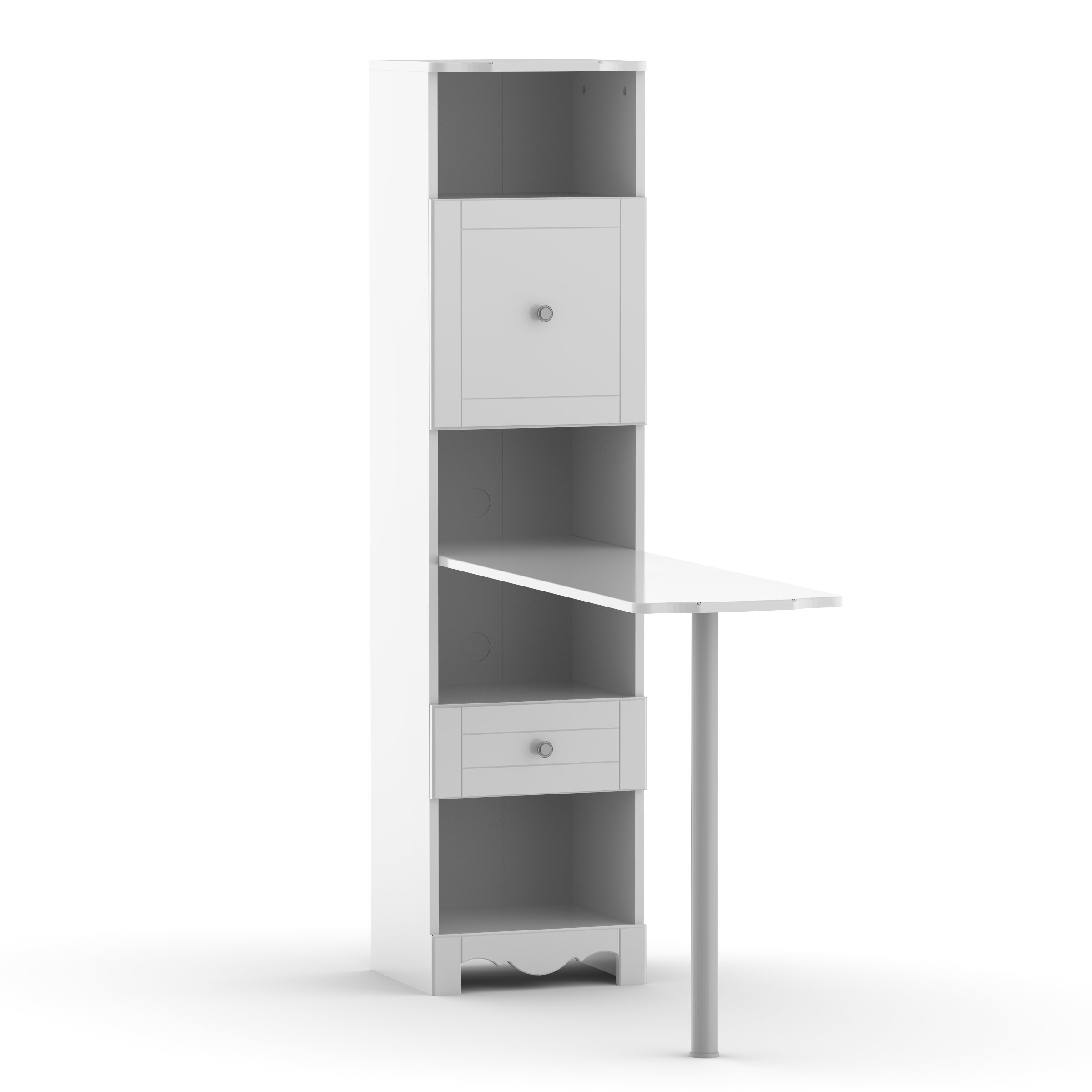 Pixel Bookcase Desk 311803 from Nexera, White