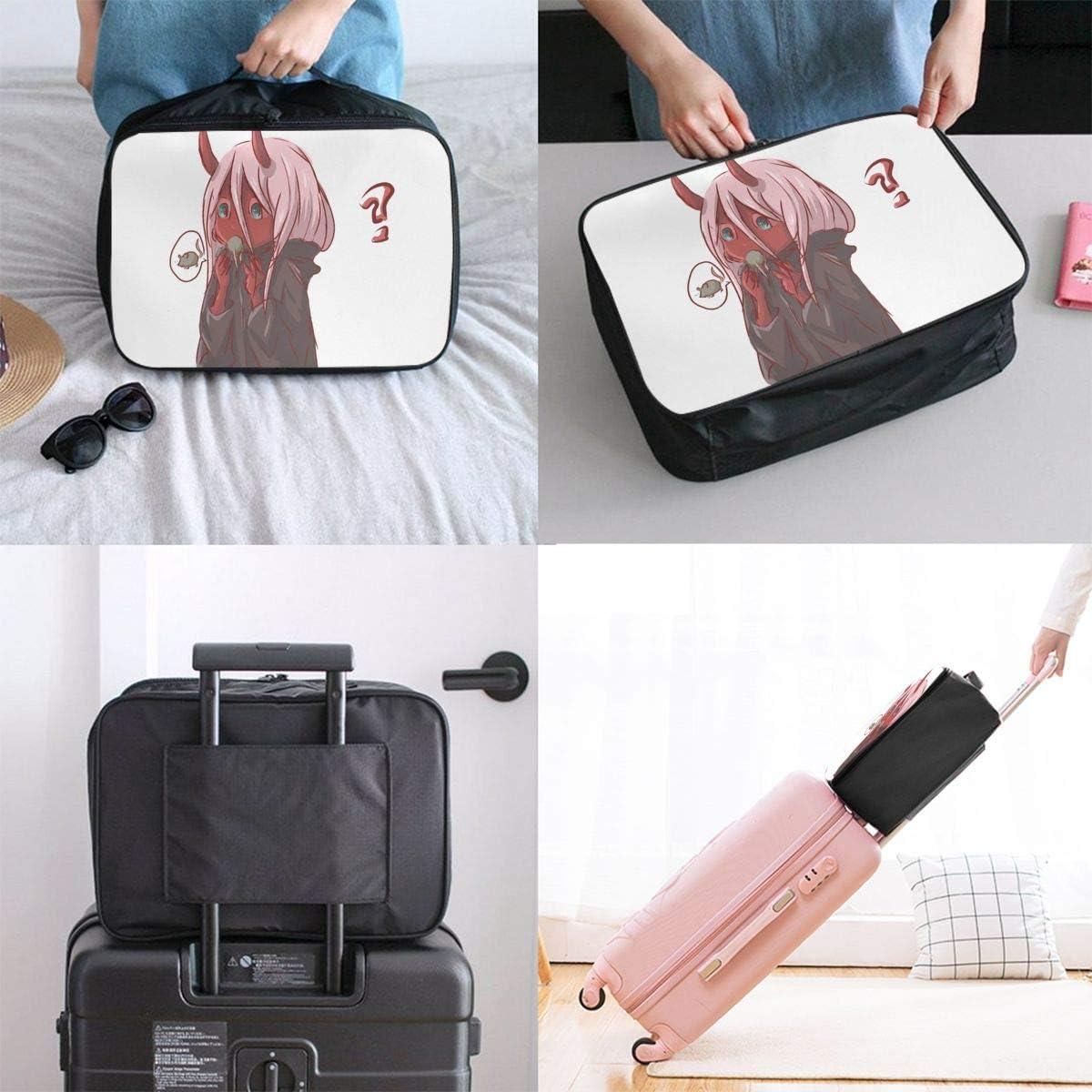 Darling In The Franxx XX Lightweight Large Capacity Portable Luggage Bag Hanging Organizer Bag Makeup Bag