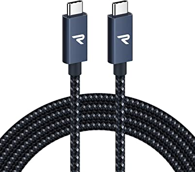 RAMPOW Cable USB C a USB C 3.2 Gen 2x2 con E-Mark, Cable Thunderbolt 3