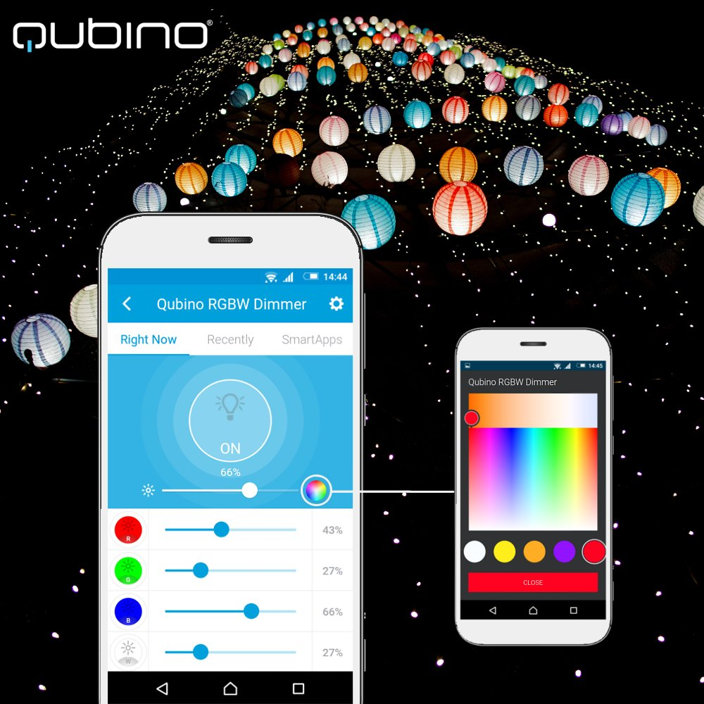 Qubino Z-Wave Plus RGBW Controller ZMNHWD3 for 12-24V LED Strips and Light Bulbs